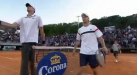 Andreas Seppi e John Isner al Masters 1000 di Roma