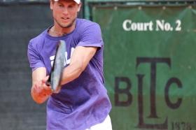 Andreas Seppi, qui in allenamento sul Campo 2 del Bordighera Lawn Tennis Club 1878
