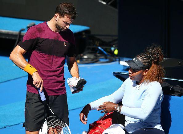 Serena Williams e Grigor Dimitrov nella foto