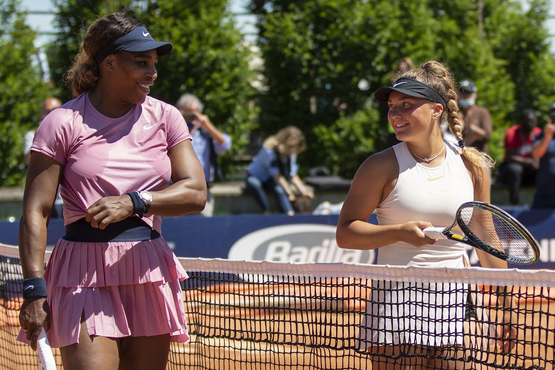 Serena Williams e Lisa Pigato - Foto Marta Magni/MEF Tennis Events