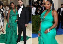 Serena Williams al Gala Met. Una n.1 del mondo che attende un bimbo