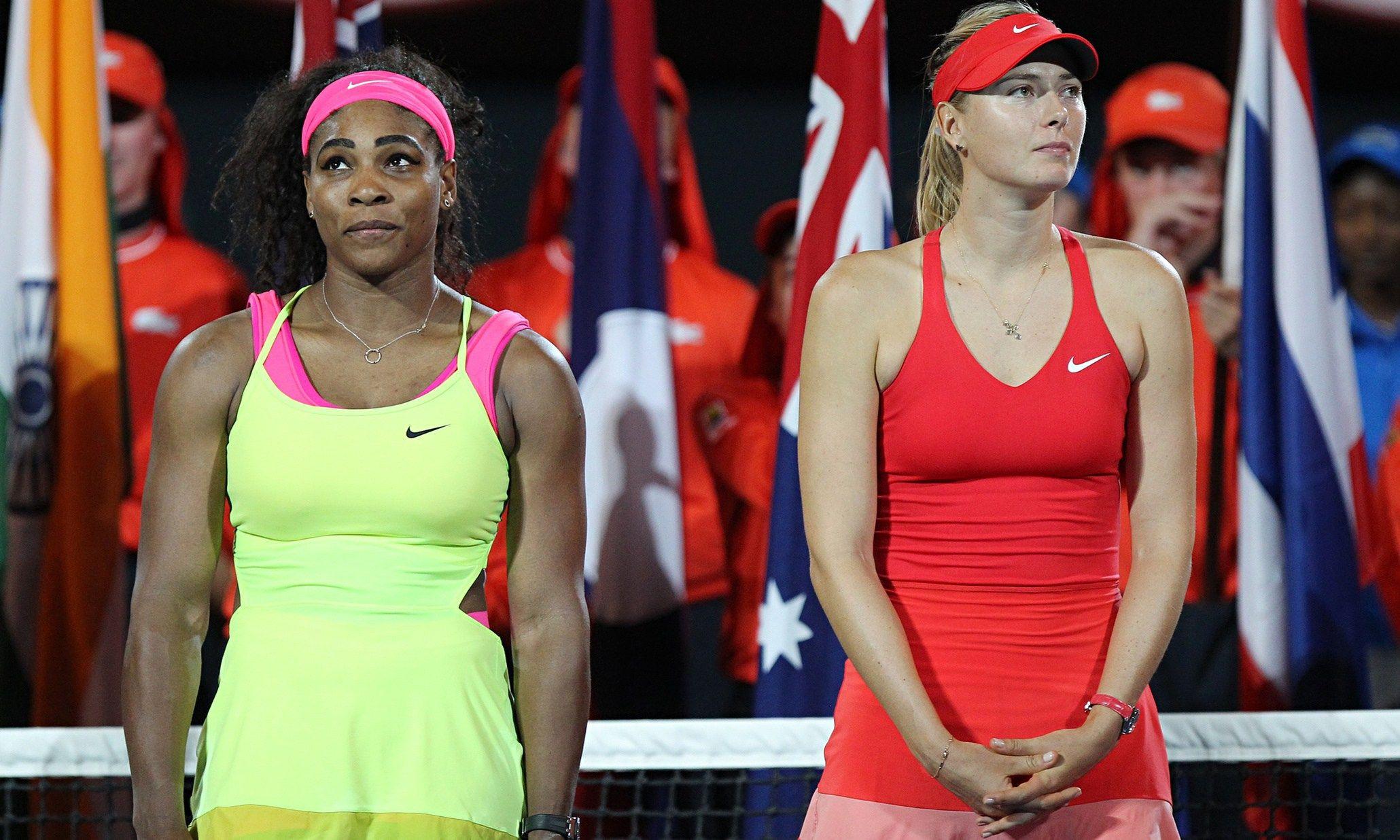 Serena Williams e Maria Sharapova nella foto