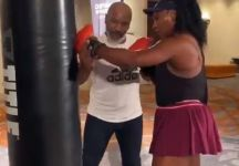Serena Williams si allena con Mike Tyson (VIDEO)