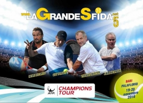 Le leggende del tennis sbarcano a Bari