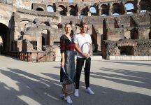 Dal Foro Italico: Berdych e Sharapova palleggiano al Colosseo (Video)