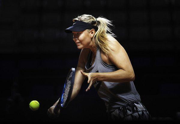 Maria Sharapova classe 1987, ex n.1 del mondo - in azione oggi a Stoccarda