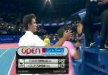 Video del Giorno: Flavio Cipolla impegnato contro Gilles Simon a Montpellier