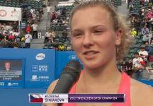 WTA Shenzhen: Primo titolo WTA anche per Katerina Siniakova (Video)