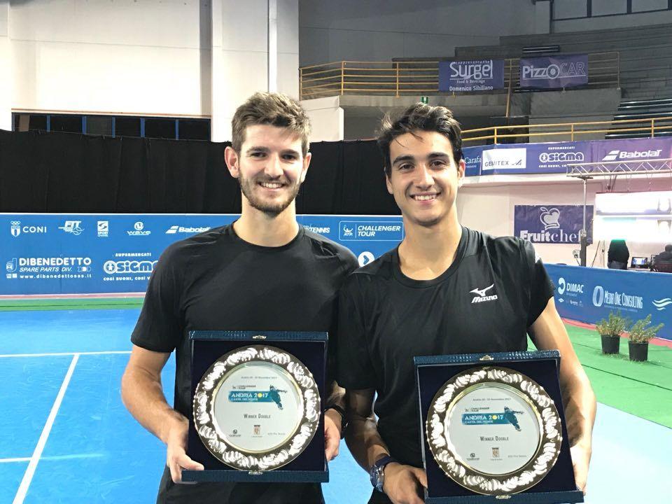 Da Andria: Sonego e Vavassori vincitori del doppio