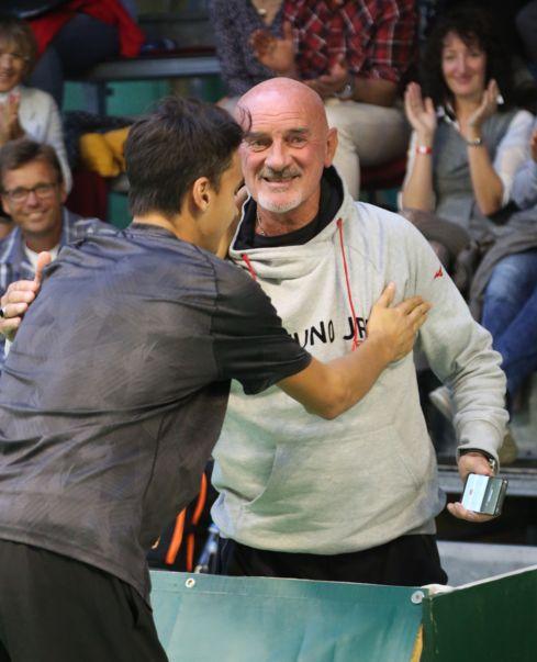 Lorenzo Sonego e il suo coach