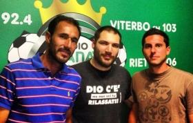 Nella foto, da sinistra: Vincenzo Santopadre, Alessandro Nizegorodcew, Nicola Corrente