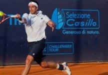 ATP Monaco: Potito Starace dopo aver annullato quattro palle set a Goffin accede al secondo ostacolo