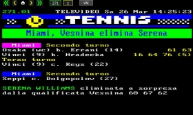 Serena perde dalla Vesnina ma è solo un errore....