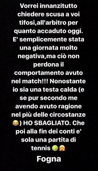 Fabio Fognini Si Scusa Con Il Giudice Di Sedia E I Tifosi Vorrei