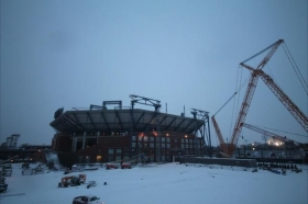 Neve nell'impianto degli Us Open
