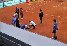 Vasek Pospisil si fa male a Madrid scontrandosi con il suo compagno di doppio