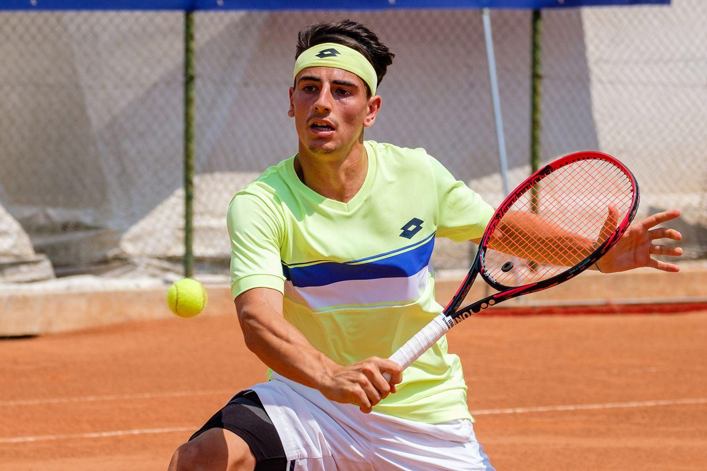 Jacopo Stefanini, 22 anni da Prato, è al secondo turno al Tc Padova dopo aver battuto in rimonta il tedesco Moeller