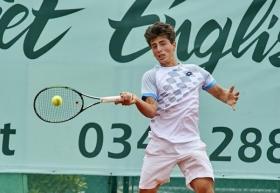 Il 19enne toscano Jacopo Stefanini ha superato il 1° turno contro il coreano Yunseong Chung - (foto Alberto Locatelli).