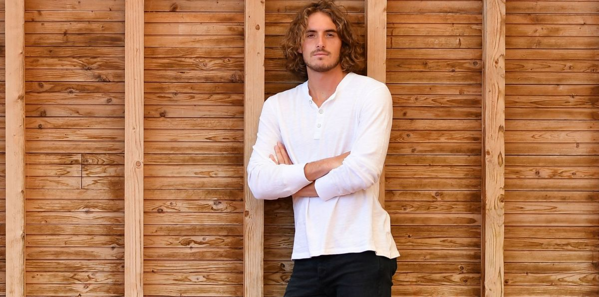 Stefanos Tsitsipas in uno scatto dell'intervista
