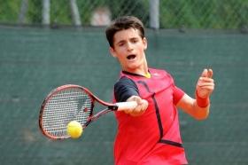 Il veneto Davide Tortora ha superato il 2° turno al Torneo Avvenire 2016 battendo l'austriaco Mrsic in tre set - (foto Francesco Panunzio).