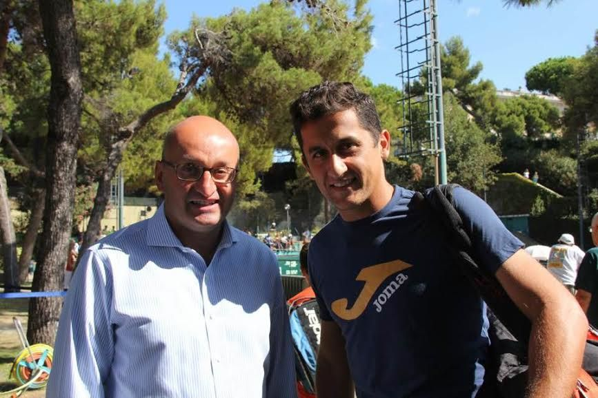 Giorgio Tarantola e Nicolas Almagro nella foto
