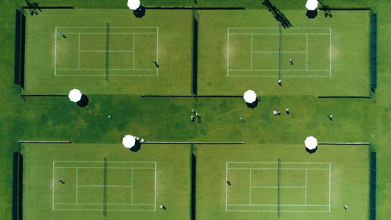 Una foto del circolo dall'alto dove si svolgerà il torneo ITF Maschile