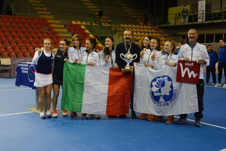 Il Tc Prato conquista lo scudetto del tennis femminile. E' il suo sesto sigillo