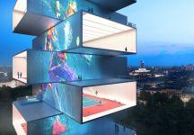 """""""Tennis Tower"""", avveniristico progetto Made in Italy (di Marco Mazzoni)"""