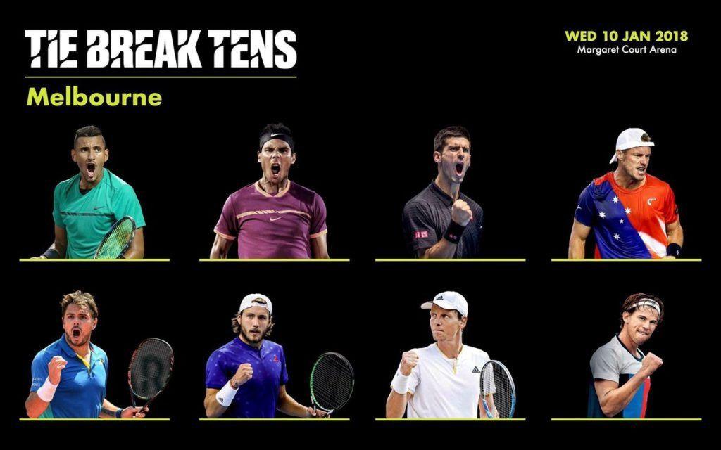 Tie Break Tens: Ecco il tabellone principale. Si gioca il prossimo 10 Gennaio