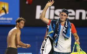 Reazione scherzosa di Rafael Nadal sul nome di Bernard Tomic (Video)