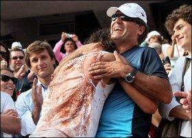 Toni Nadal con Rafael Nadal nella foto