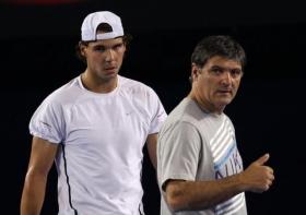 Rafael Nadal e Toni Nadal suo coach