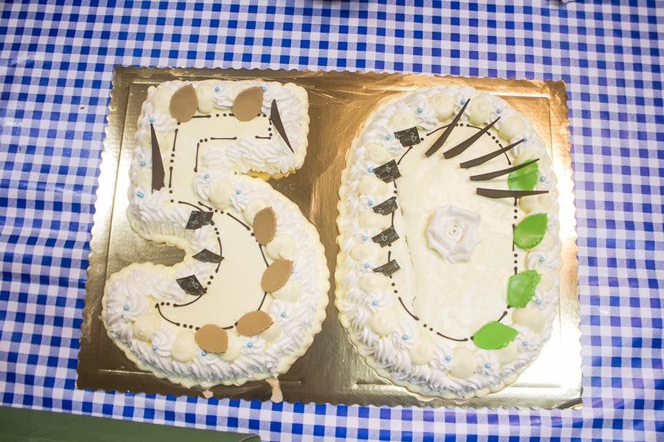 La torta per i 50 anni del TC Santa Croce