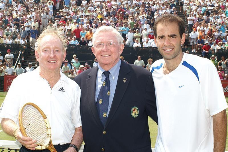 Tony Trabert, con Rod Laver e Pete Sampras