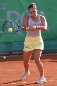 Martina Trevisan, toscana classe 1993, ha vinto il derby con Alberta Brianti nei quarti di finale a Bagnatica  - Foto San Marco