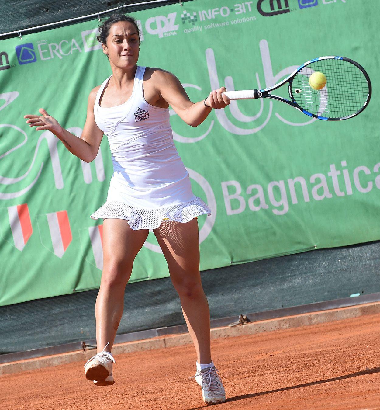 Martina Trevisan, fiorentina classe 1993, è numero 147 Wta. Tornerà a Bagnatica per difendere il titolo del 2016 - Foto San Marco