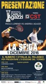 Paolo Lorenzi, senese classe 1981, ha vinto il Memorial Carlo Agazzi nel 2015. Tornerà a Iseo giovedì 1 dicembre per il lancio dell'ottava edizione