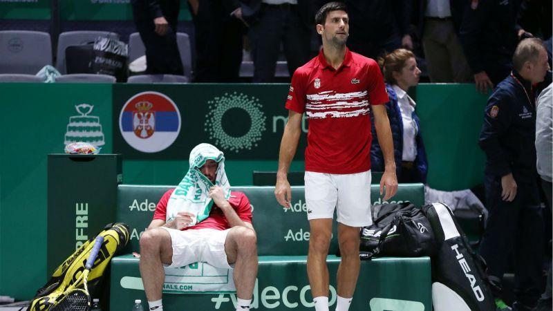 Viktor Troicki e Novak Djokovic nella foto