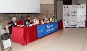 Il tavolo dei relatori alla conferenza stampa di presentazione della Nation Cup - Lampo Trophy 2016