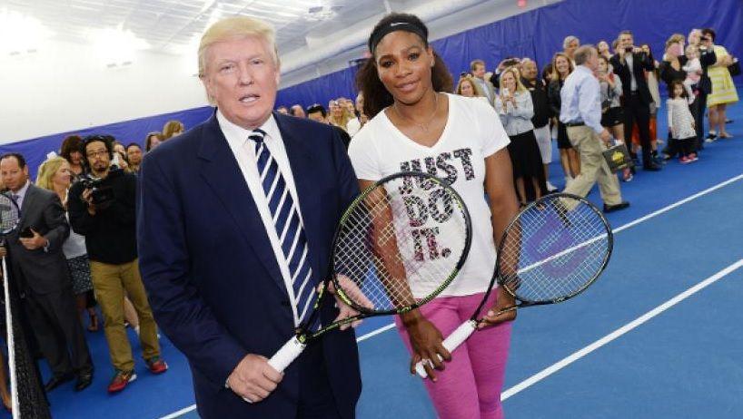 Donald Trump in foto con Serena Williams