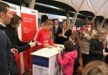 Lesia Tsurenko ha incontrato i giovani tennisti all'Eurotennis Club Di Treviso