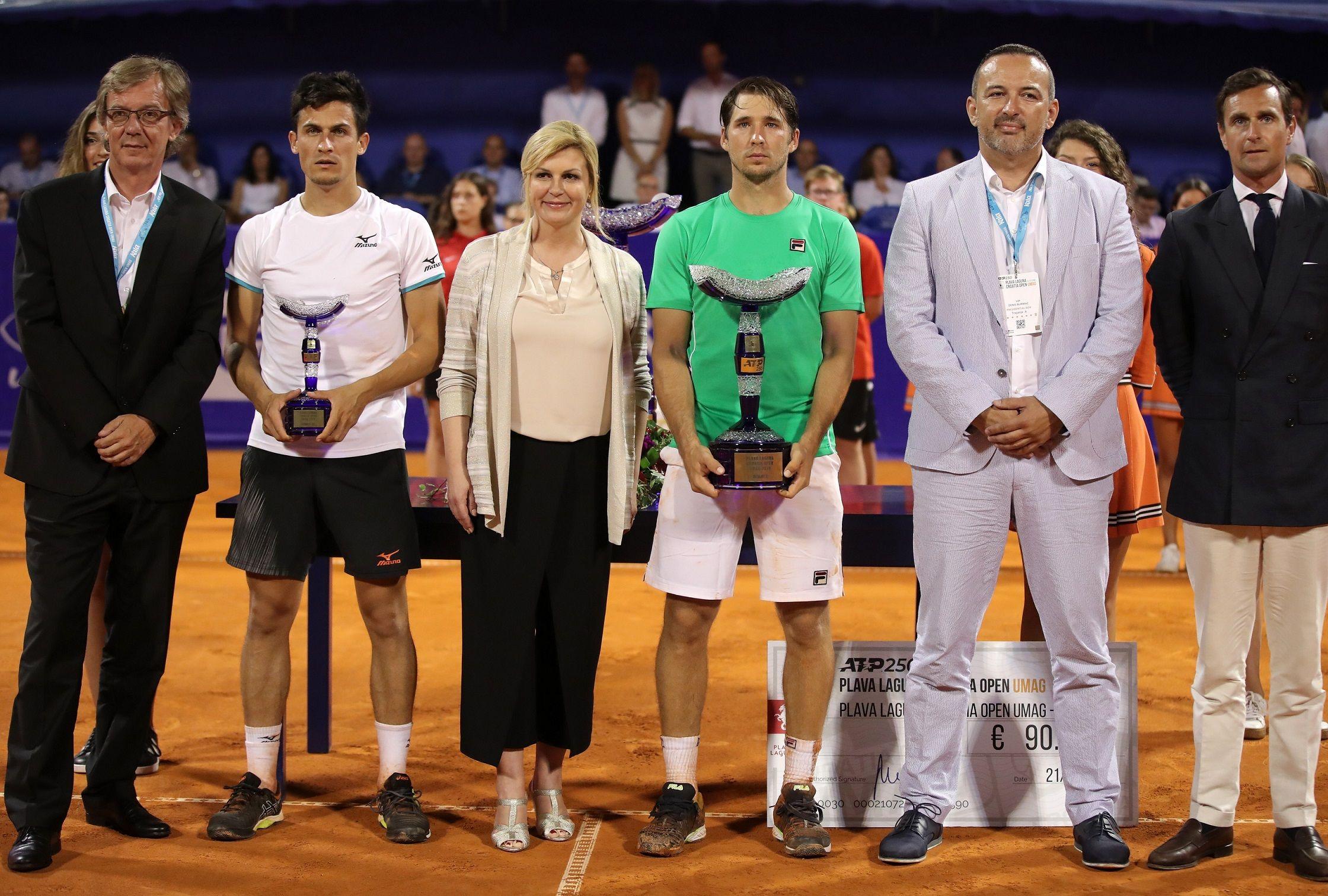 Il vincitore e finalista del torneo di Umago