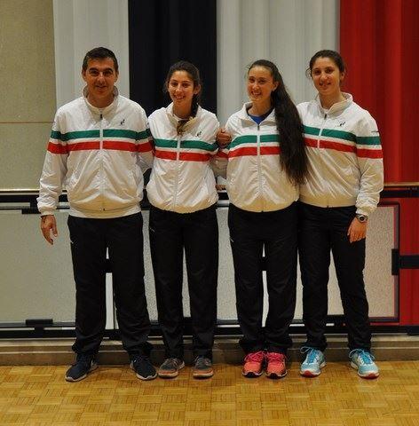 La nazionale italiana under 16 femminile di Winter Cup: Giovanni Paolisso (capitano) Federica Rossi, Federica Sacco, Martina Biagianti
