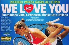 Us Open, Tweet, Video e Varie - Day 13: L'emozioni di Flavia Pennetta e Roberta Vinci