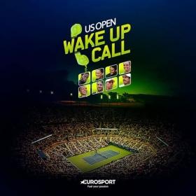 Eurosport lancia il servizio di wake-up call in occasione degli US Open
