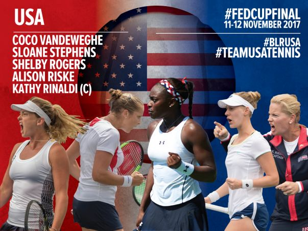 Fed Cup: Ecco il quartetto americano per la finale contro la Bielorussia