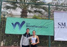 """ITF Junior Cairo: Emma Valletta regina d'Egitto che dichiara dopo la vittoria """" In finale, la mia avversaria si è espressa bene. L'avevo vista giocare in precedenza e con il mio coach avevamo impostato la partita in un certo modo per poterla mettere in difficoltà"""""""