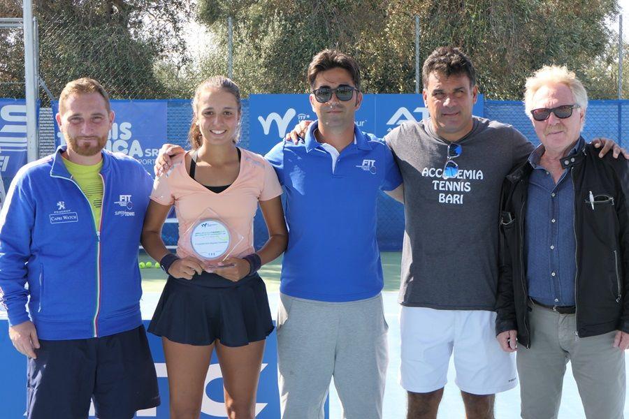 Emma Valletta vincitrice del torneo ITF di Bari