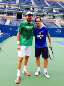 Luca Vanni si allena con Richard Gasquet agli Us Open