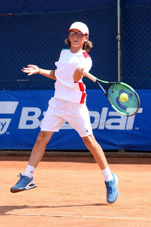 Jacopo Vasami, romano classe 2007, ha vinto singolare e doppio nella semifinale vinta dall'Italia contro la Bulgaria - Foto Alvaro Maffeis